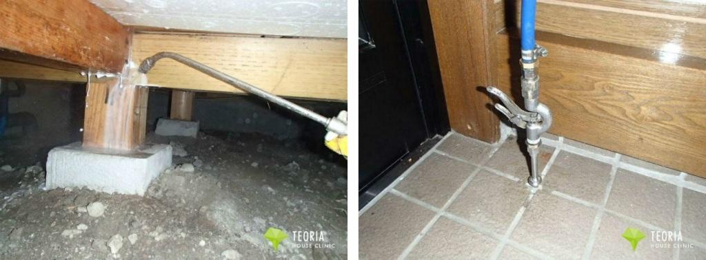 床下の防蟻工事