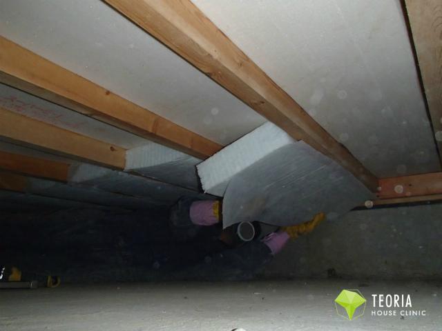 床下断熱リフォームの施工