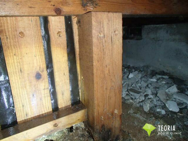 木部処理が終わったあとの木材