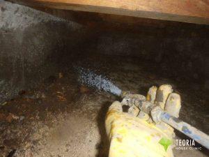 シロアリが上がってくる基礎周辺の土壌処理