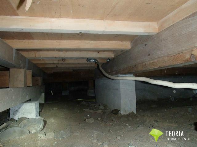 福生市の建物の床下の状態
