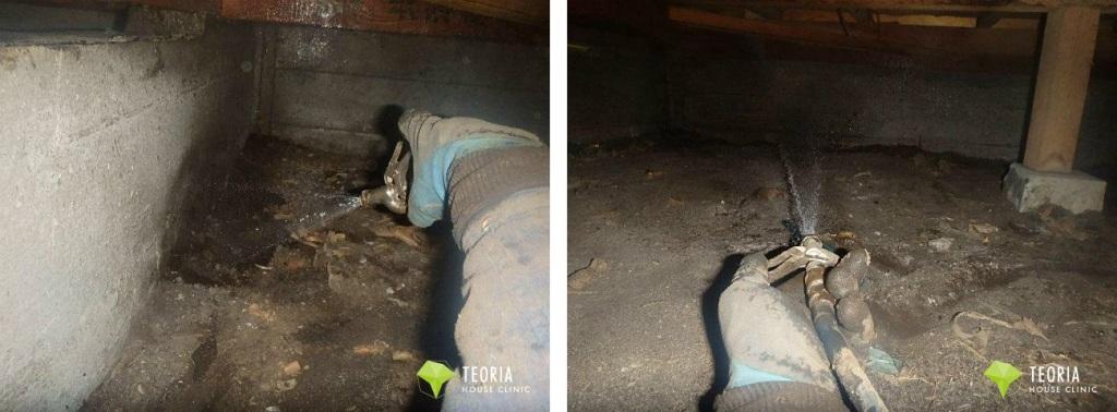 床下の土壌処理