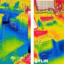 サーモカメラによる床下断熱リフォームの施工前後